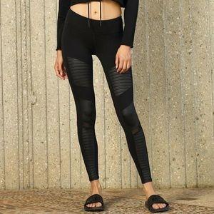 Alo Yoga Moto Leggings Black Faux Leather Small